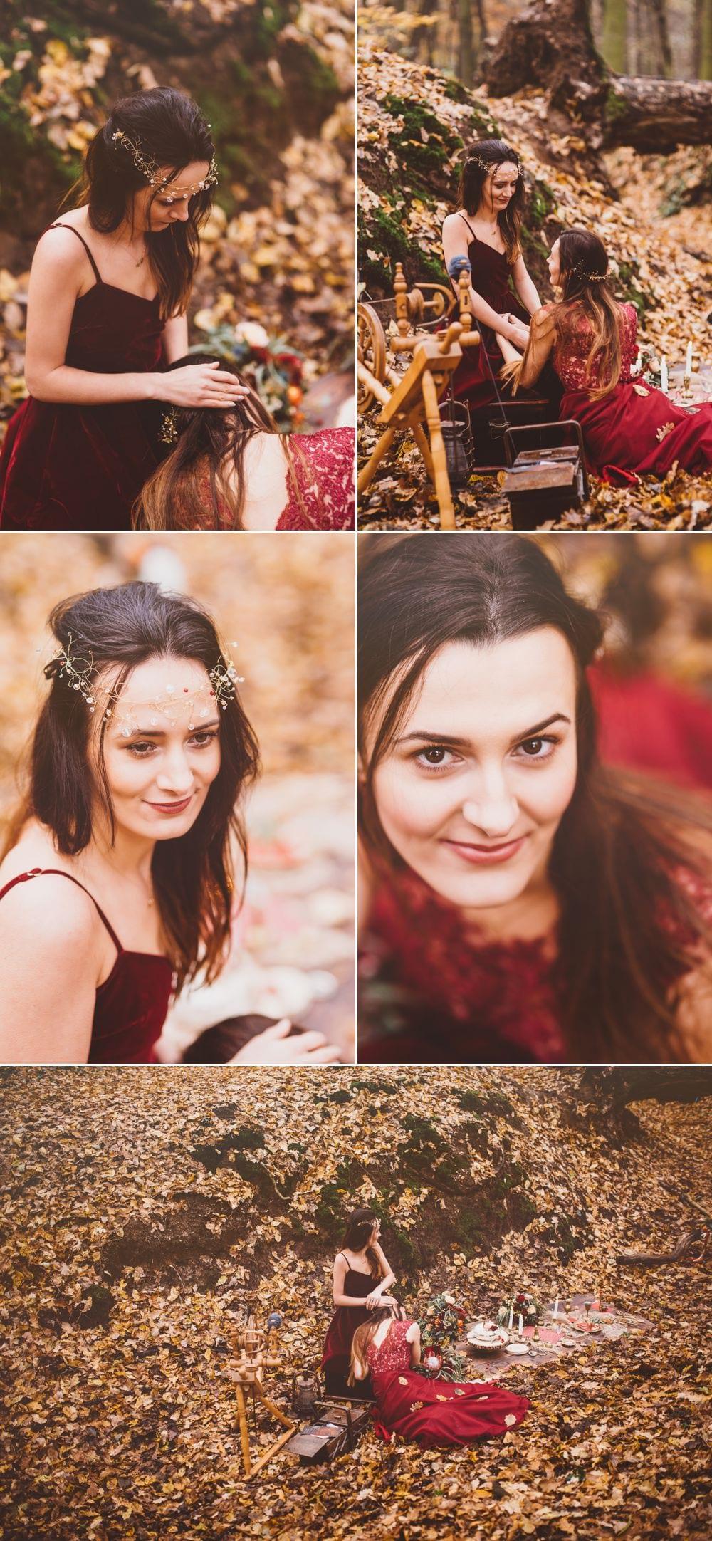 Fotografia Edytorial Marifoto Jesienna sesja pięknych sióstr